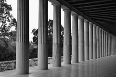 Dorische attalos van kolommenstoa Stock Afbeelding