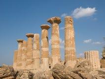 Dorische Tempel in Agrigento Royalty-vrije Stock Afbeelding