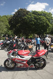 Dorking, UK-July 02, 2017:Motorcycle Enthusiasts meeting at Cafe Stock Images