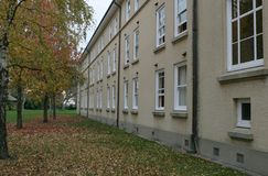 Dorm rooms in Autumn. Dorm rooms at a university in Autumn/fall royalty free stock photos