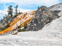 Mammoth Hot Springs of Yellowstone Royalty Free Stock Photography