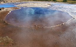 Dormant Geysir in Iceland Royalty Free Stock Image