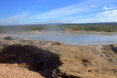 Dormant Geysir in Iceland Stock Photo