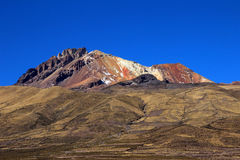Dormant volcano Tunupa, the Salar de Uyuni, Bolivia Stock Photos
