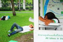 Dormendo a Bangkok Fotografie Stock Libere da Diritti