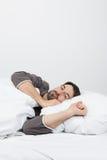 Dormendo nella notte fotografia stock libera da diritti