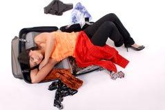 Dormendo sui sacchetti Immagine Stock Libera da Diritti