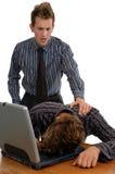 Dormendo sul job Fotografia Stock