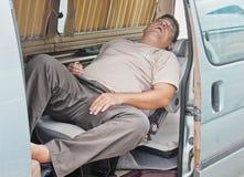 Dormendo sul job Fotografia Stock Libera da Diritti