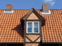 Dormer. On a half timbered houses Royalty Free Stock Photo