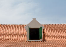 Dormer in Red Tile Roof Royalty Free Stock Image