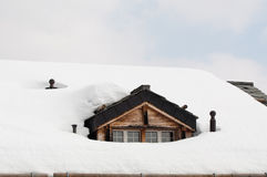 Dormer in the snow Royalty Free Stock Photography