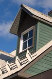 Dormer Window. With Tin Roof & Snow Retaining Bars Royalty Free Stock Image