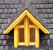 Dormer window. Detail of roof house model with dormer-window Stock Photo