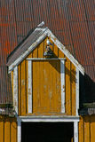 Dormer Window in Nusfjord. Picturesque houses in the fishing village Nusfjord (Unesco World Heritage Stock Image
