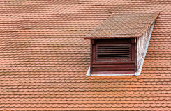 Dormer window and red roof tiles Stock Image