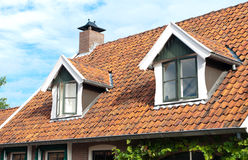 Dormer windows. House with two dormer windows Royalty Free Stock Photography