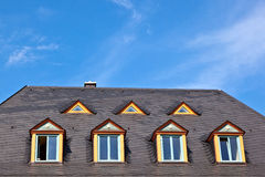 Dormer windows in a row Stock Image