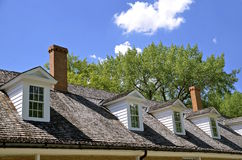 Dormers of a military building Royalty Free Stock Photos