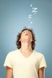 Dormido caido hombre Imagen de archivo libre de regalías