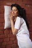 Dormilón de la muchacha Foto de archivo libre de regalías