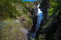 Dormillouse-Wasserfall in Frankreich stockfotos