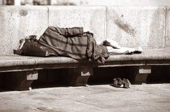 Dormindo a caminhada Fotografia de Stock