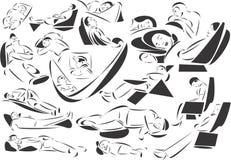 Dorminhocos ilustração royalty free