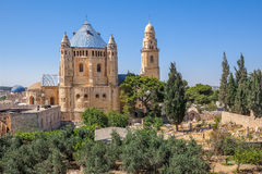 Dormition修道院在耶路撒冷,以色列 免版税图库摄影
