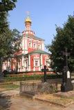 Dormition教会在Novodevichy修道院,莫斯科,俄罗斯里 图库摄影