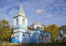 Dormition秋天天的教会 库存图片