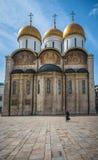 Dormition的大教堂在克里姆林宫,俄罗斯 图库摄影