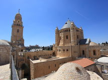 Dormition Abbey and Bell Tower, Jerusalem Stock Photos