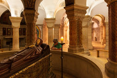 Dormition Abbey interior view. Royalty Free Stock Photos