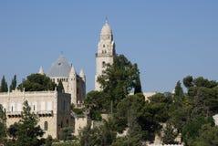 Dormition Abbey, montering Zion, Jerusalem, Israel Royaltyfri Foto