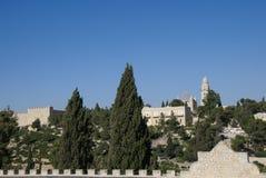 Dormition Abbey, montering Zion, Jerusalem, Israel Arkivbilder