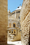 Dormition Abbey on the Mount Zion Stock Image