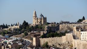 Dormition Abbey on Mount Zion, Jerusalem, Israel Royalty Free Stock Images