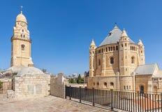 Dormition abbotskloster i gammal stad av Jerusalem Arkivfoton