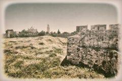 Dormition abbotskloster i Jerusalem Arkivbilder