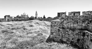 Dormition abbotskloster i Jerusalem Arkivfoto