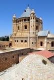 Dormition abbotskloster på Mount Zion, Jerusalem, Israel Royaltyfri Foto