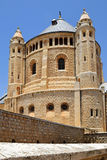 Dormition abbotskloster på Mount Zion, Jerusalem, Israel Royaltyfria Foton