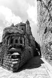 Dormition abbotsklosterkyrka gammal town jerusalem israel royaltyfri fotografi