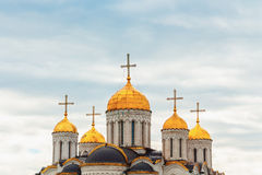 Dormition Cathedral Assumption Cathedral in Vladimir. UNESCO World Heritage Site. VLADIMIR, RUSSIA - May 06, 2017: Dormition Cathedral Assumption Cathedral in royalty free stock photography