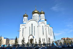 Dormition Cathedral in Astana Stock Photos