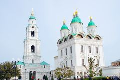 Dormition Cathedral in Astrakhan Kremlin Royalty Free Stock Images
