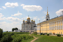 Dormition cathedral and chamber in Vladimir Royalty Free Stock Images