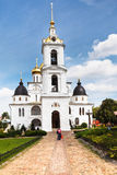Dormition Cathedral of Dmitrov Kremlin, Russia Royalty Free Stock Images