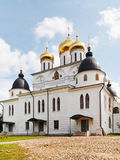 Dormition Cathedral of Dmitrov Kremlin, Russia Stock Images